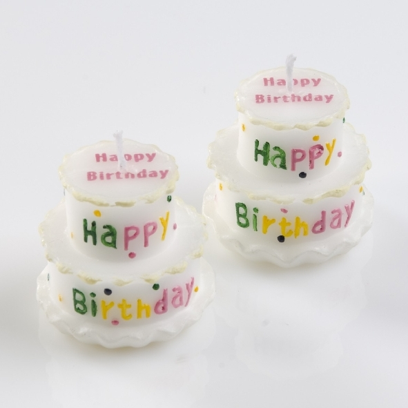 2 kerzen happy birthday minitorte geburtstag deko party ebay. Black Bedroom Furniture Sets. Home Design Ideas