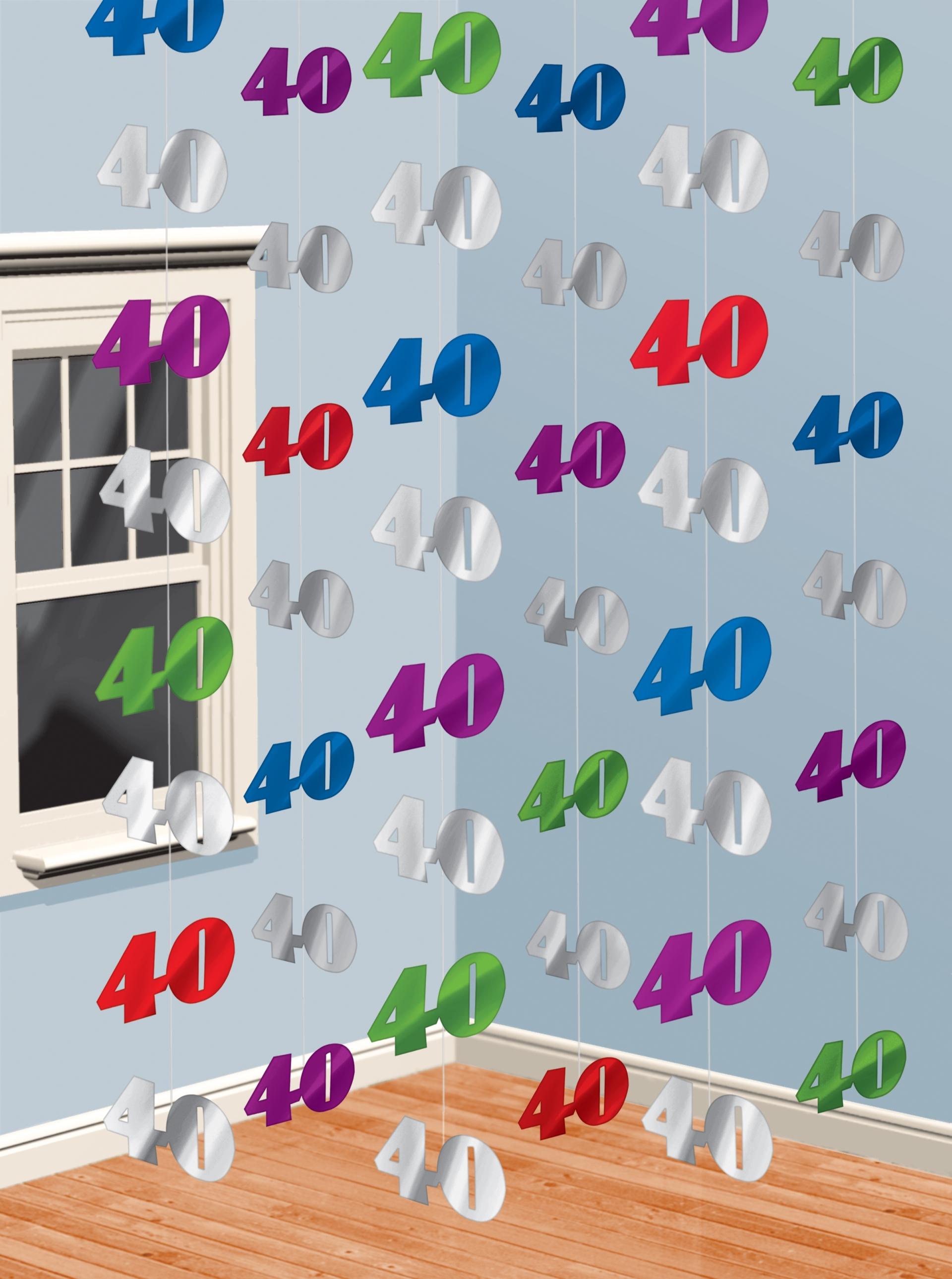 6 h nge girlanden zahl 40 geburtstag party deko ebay. Black Bedroom Furniture Sets. Home Design Ideas