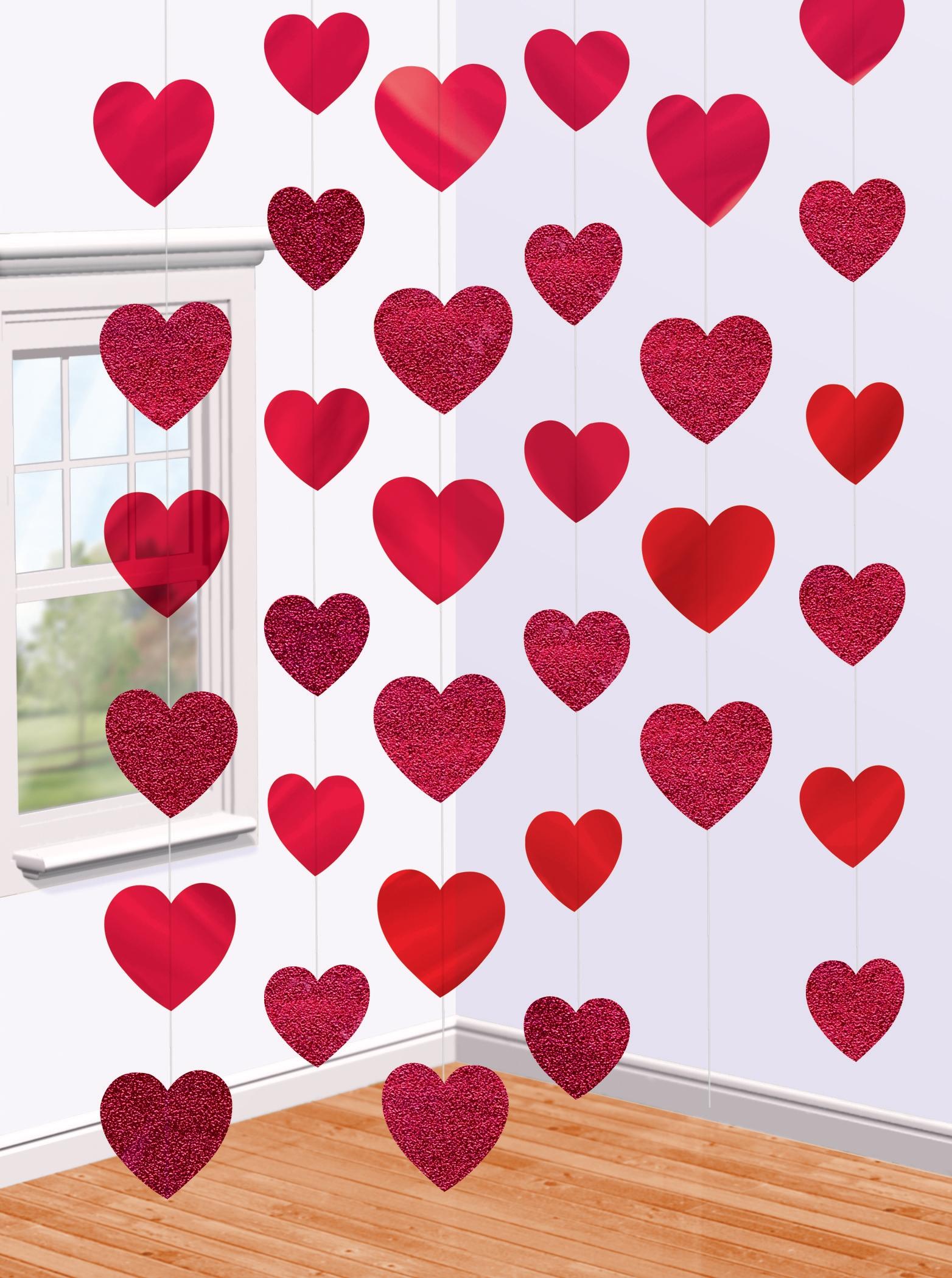 bunt rose herz papier flagge geburtstag banner girlanden hochzeit party deko ch ebay. Black Bedroom Furniture Sets. Home Design Ideas