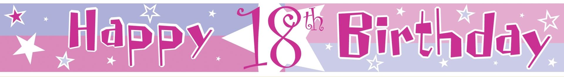 banner girlande pink zahl 18 geburtstag party deko ebay. Black Bedroom Furniture Sets. Home Design Ideas
